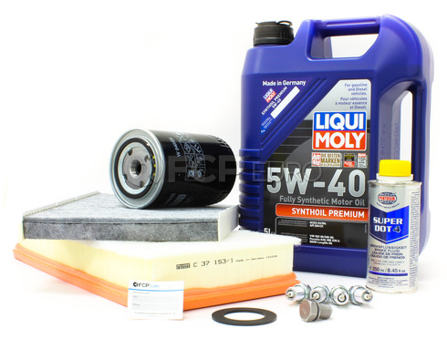Audi VW 5W40 Synthetic Service Kit 1.8T - Pentosin/Mann MK4SERVICE2