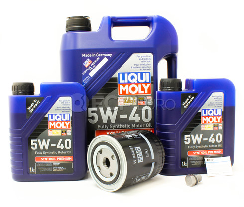 Audi VW 5W40 Oil Change Kit V6 - Liqui Moly/Mann 5W40V6OILKIT1