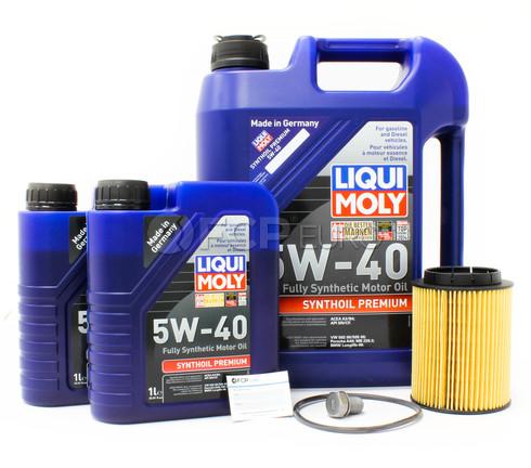 Audi VW 5W40 Oil Change Kit V6 (Golf Jetta Q7 Touareg) - Liqui Moly/Mann 5W40OILV61