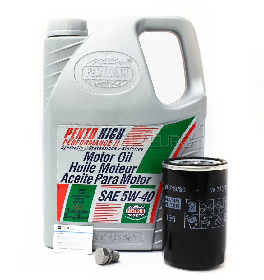 Audi VW 5W40 Synthetic Oil Change Kit