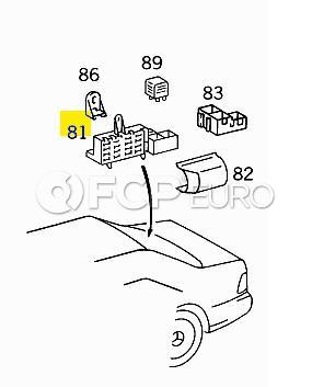 Mercedes Fuse Box Rear (S500  500SEL) - Genuine Mercedes 1405451701