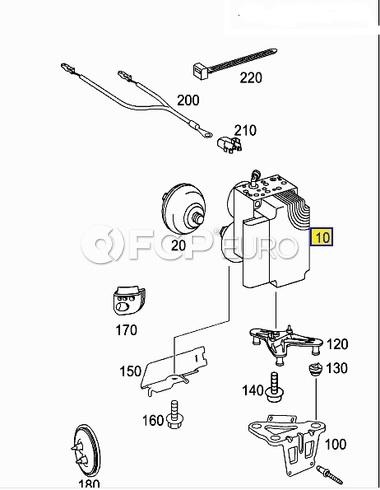 Mercedes SBC Hydraulic Control Unit (E320)- Genuine Mercedes 0094312512