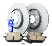 VW Brake Kit Front (Jetta Beetle Golf) - Zimmermann/Akebono MK4FRBKZIMM
