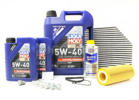 Audi 5W40 Service Kit (B8 A4 3.2L) - Liqui Moly/Mann A4B8SERVICE32V6