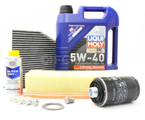 Audi VW 5W40 Synthetic Service Kit 2.0T - Liqui Moly/Mann 517469