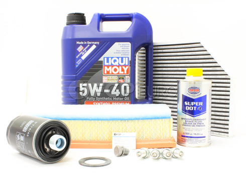 Audi VW 5W40 Synthetic Service Kit 2.0T - Liqui Moly/Mann 5W40 SyntheticB8SERVICE20T
