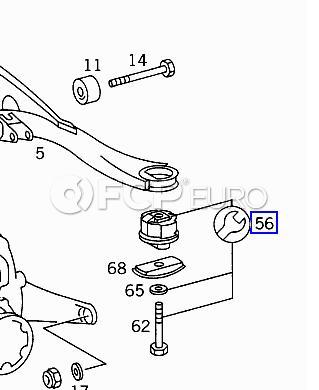Mercedes Subframe Bushing Kit Rear (500SEC) - Genuine Mercedes 1403503041