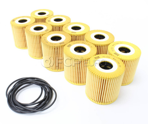 Volvo Engine Oil Filter Case of 10 (S40 S60 S70 S80 V70 XC70 XC90) - MANN 1275811