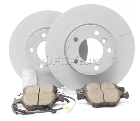 BMW Brake Kit Front (E90 E91 E92 E93) - Zimmermann/Akebono 34116855006KTF2
