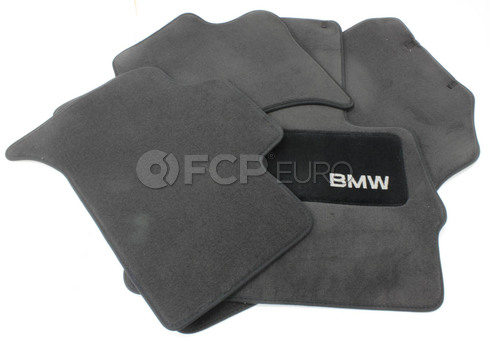BMW Carpeted Floor Mats set of 4 Anthracite (X5) - Genuine BMW 82110008635
