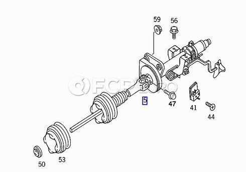 Mercedes Steering Column with Steering Angle Sensor (ML320) - Genuine Mercedes 1634600516