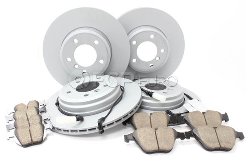 BMW Brake Kit Front and Rear (E60) - Zimmermann/Akebono 34116864906KTFR7