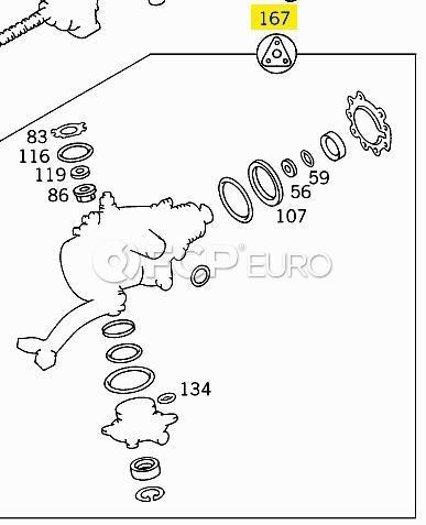 Mercedes Steering Gear Seal Kit (300SD 400SE CL500) - Genuine Mercedes 1404602901