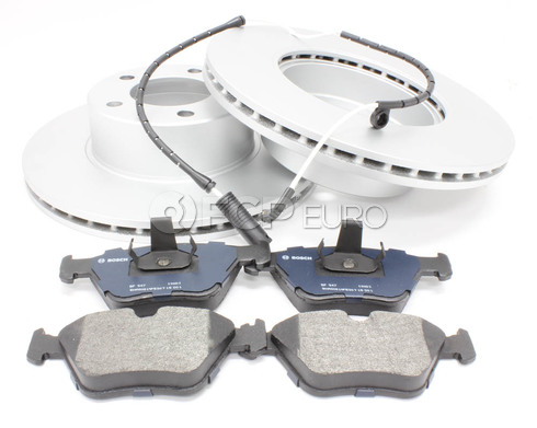 BMW Brake Kit Front (E39 525i 528i) - Bosch QuietCast 34116767061KT3