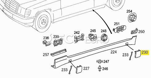 Mercedes Jack Support Cover (C230) - Genuine Mercedes 2026982530