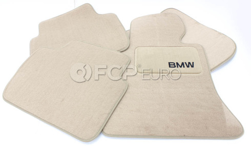 BMW Carpeted Floor Mat Set (Beige) - Genuine BMW 82110026589