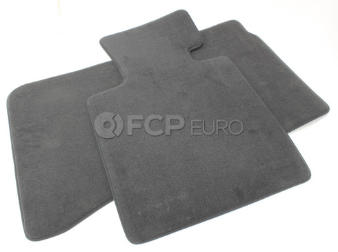 BMW Black Velour Floor Mat Set (E85 E86 Z4) - Genuine BMW 51477030765