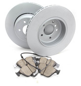 BMW Brake Kit - Zimmermann/Akebono 34216763827KTR2