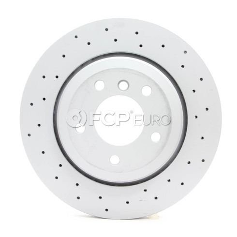 BMW Drilled Brake Disc - Zimmermann 34201166073