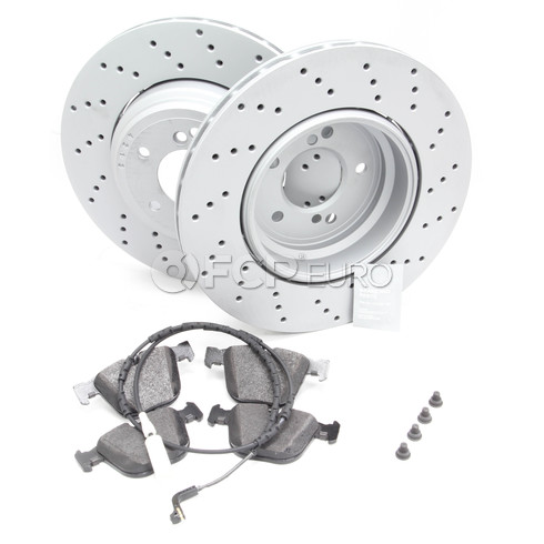 BMW Brake Kit Rear (E82 E90 E92 E93 M3) - Zimmermann/Textar 34212283803KT1