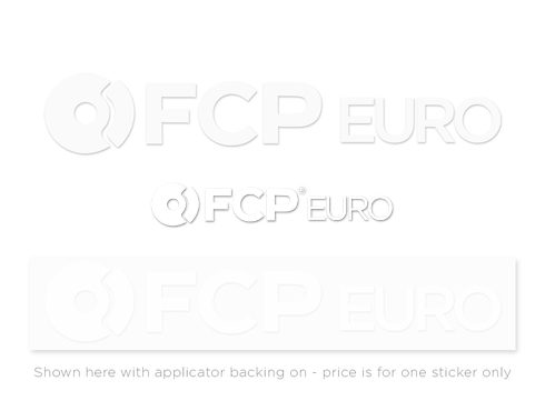 FCP Sticker (White Vinyl Die-Cut)