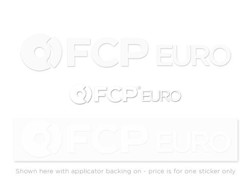 FCP Sticker (White Vinyl Die-Cut)
