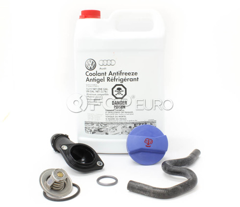 Audi VW Thermostat Housing Kit with G13 Coolant - Genuine VW Audi 06B121121L