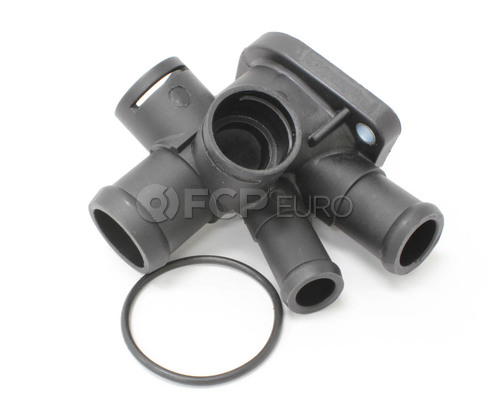 VW Engine Coolant Outlet Flange (Jetta Golf Passat) - Meyle 037121144J