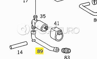 Mercedes Idle Air Control Valve Hose (190E 16V) - Genuine Mercedes 1020949582
