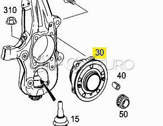 Mercedes Wheel Hub Assembly (ML350) - NTN-WE60585