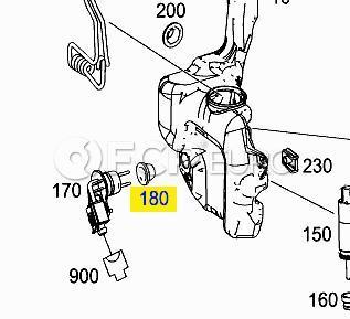 Mercedes Washer Fluid Level Sensor Seal (C300)- Genuine Mercedes 2038690098