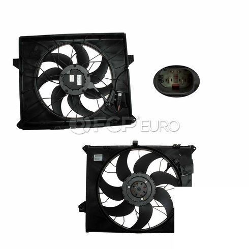Mercedes Engine Cooling Fan Assembly (ML500) - Genuine Mercedes 1645000593