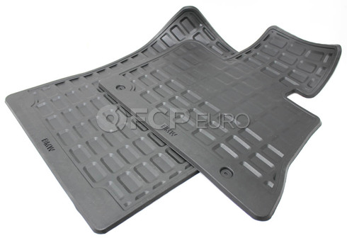 BMW Set Rubber Mats Front (Black) - Genuine BMW 51470000578