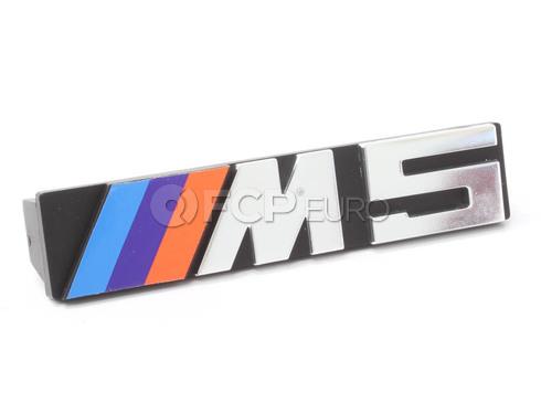 "BMW Letter ""M5"" Front - Genuine BMW 51142230389"