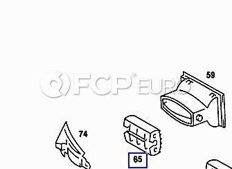 Mercedes Dashboard Air Vent Assembly (190D) - Genuine Mercedes 2018300374