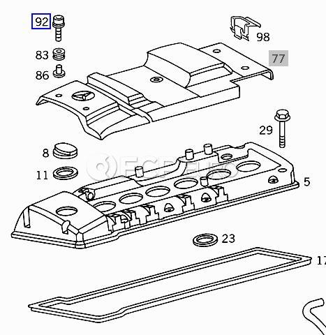 Mercedes Cylinder Head Cosmetic Cover Screw (E300) - Genuine Mercedes 6069900001
