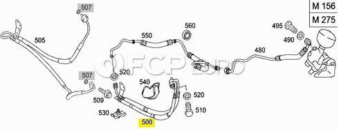 Mercedes Suspension Expansion Hose (SL600) - Genuine Mercedes 2303209353