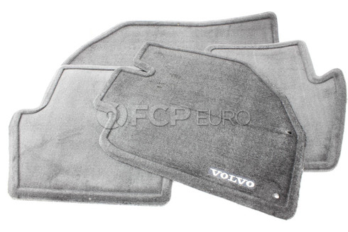 Volvo Carpeted Floor Mat Set Black (850) - Genuine Volvo 9166888