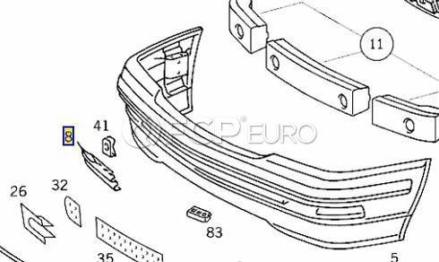 Mercedes Tow Hook Cover Primered (SL500) - Genuine Mercedes 12988000059999