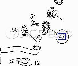 Mercedes Fuel Tank Filler Neck (ML320) - Genuine Mercedes 1634710107