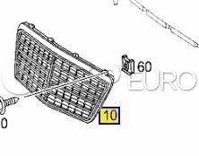 Mercedes Radiator Grille High Gloss Atlas Gray (E320) - Genuine Mercedes 21188003837246