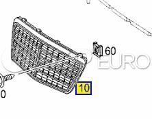 Mercedes Radiator Grille High Gloss Atlas Gray (E320) - Genuine Mercedes 21188003837246