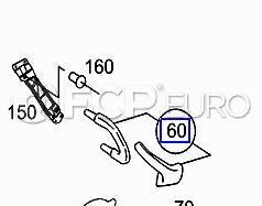 Mercedes Interior Door Handle Right Anthracite (C240) - Genuine Mercedes 20381008517241