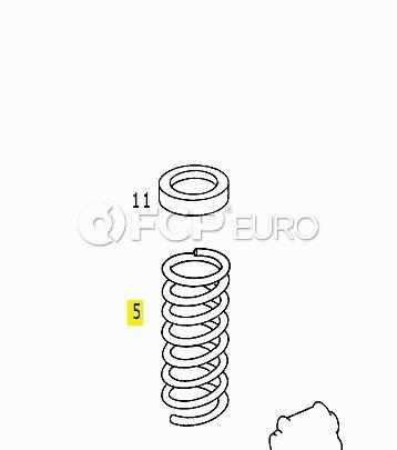 Mercedes Coil Spring Front (400E) - Genuine Mercedes 1243213904