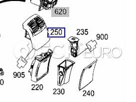 Mercedes Ventilation Nozzle Rear Almond Beige (E350) - Genuine Mercedes 21283004541148