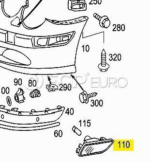 Mercedes Signal Lamp Left (CL500) - Genuine Mercedes 2158200521