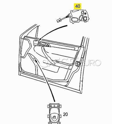 Mercedes Power Seat Switch Right Deep Grey (CLK500) - Genuine Mercedes 20982026107167