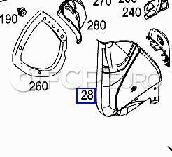 Mercedes Loudspeaker Cover Right Alpaca Gray (CLK500) - Genuine Mercedes 20972702887E94