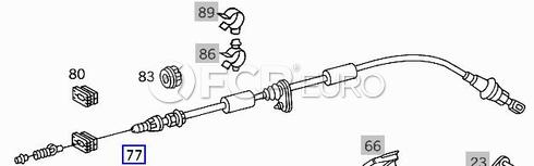 Mercedes Throttle Cable (SL500) - Genuine Mercedes 1293000530
