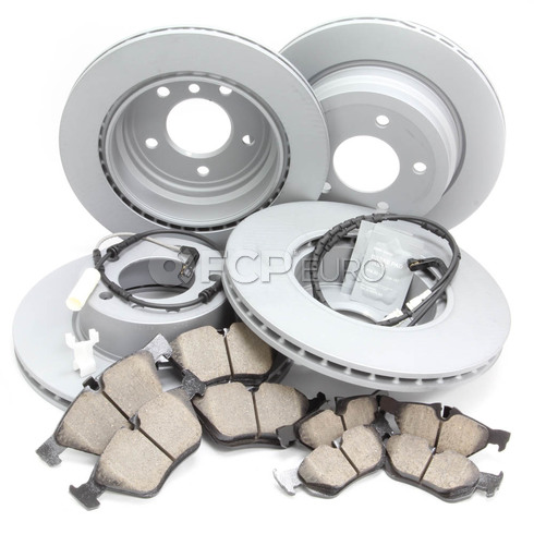BMW Brake Kit Front and Rear (E90 E91) - Zimmermann/Akebono 34216864901KTFR1
